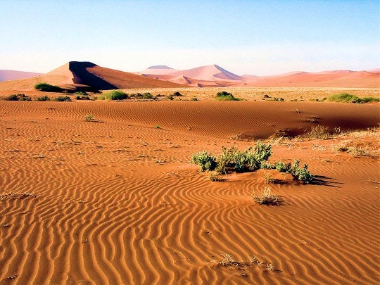Ancient dunes from the Namib-Naukluft Park in Namibia. By Bjorn Christian Torrissen (Creative Commons)