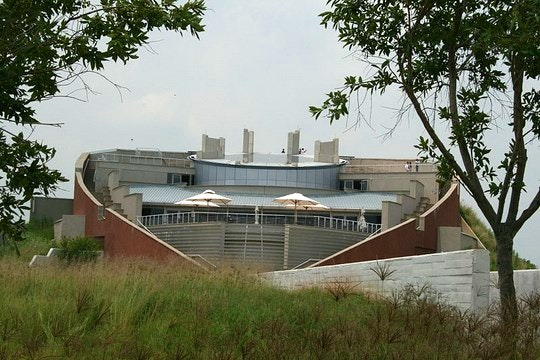 The Tumulus building at the Maropeng Centre in the Cradle of Humankind (Wikipedia)
