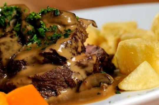 Steak and wedges. (C) TravelGround