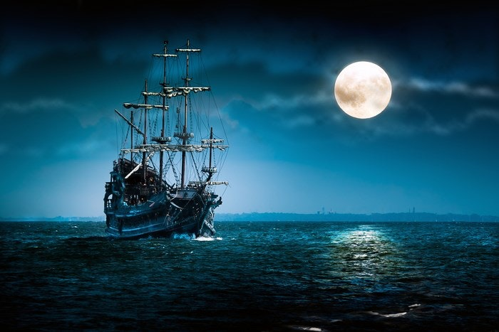 Flying Dutchman - Sailing Ship a ghost and legend unique to the Cape (via Bigstock)