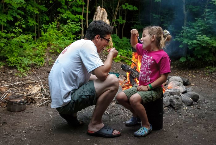 Father and daughter camping. By davidsteltz (Flickr)