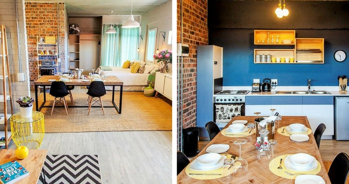 This is open-plan living at its best (left); The kitchenette has minimal clutter and maximum efficiency (right) | Photos: TravelGround