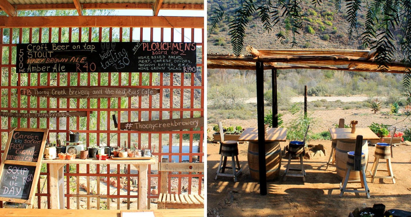 Thorny Creek Brewery and The Red Bus Café (Foto's: Daniëlle Terblanche)