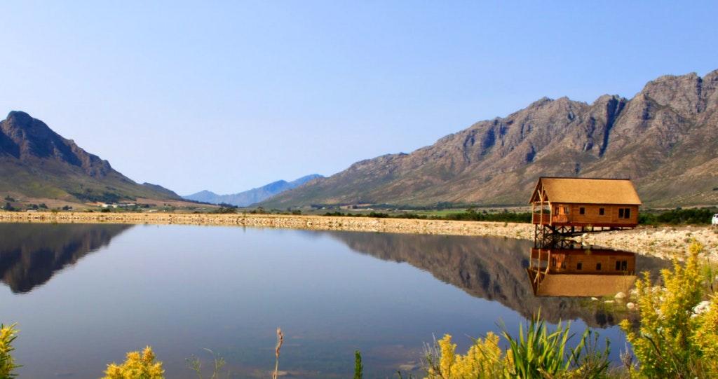 Platbos Log Cabins Rawsonville Fly Fishing Mountain Biking western cape wegbreek blyplek selfsorg visvang weskaap
