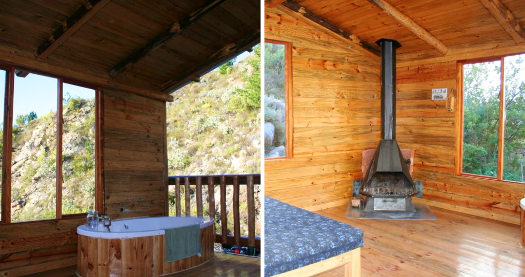 Montagu Route 62 accommodation Wes-Kaap log cabin houthuis