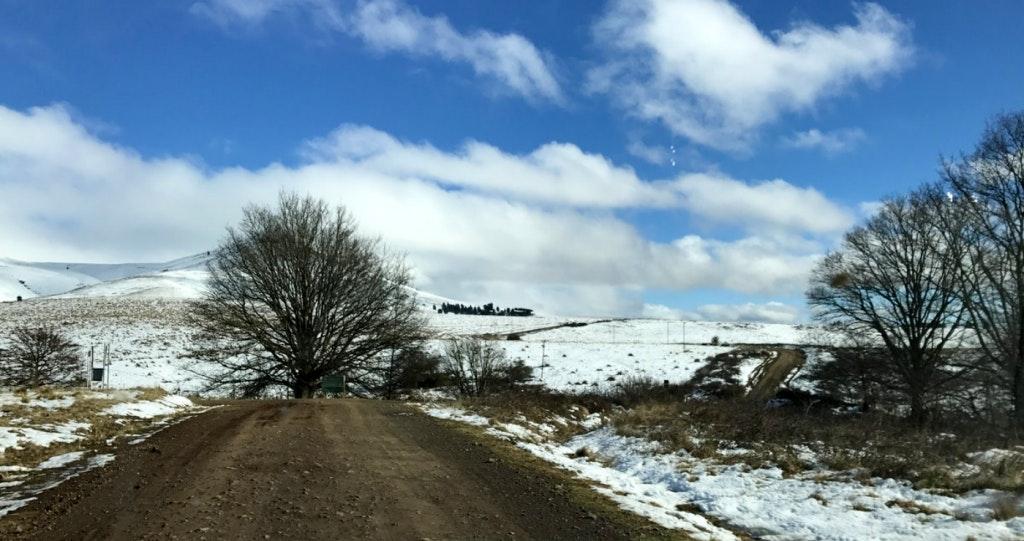 Hogsback sneeu