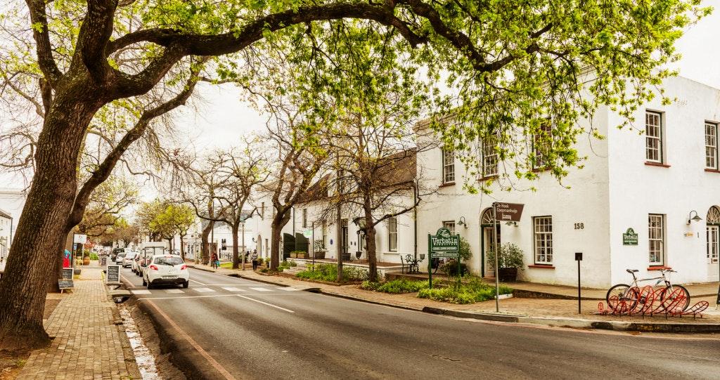 stellenbosch street scene bigstock
