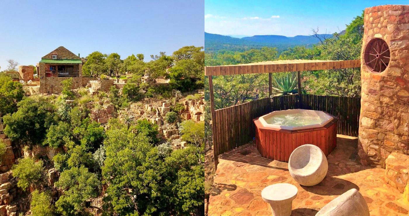 Aloe Rock Cabin jacuzzi gauteng bojonala B&B accommodation