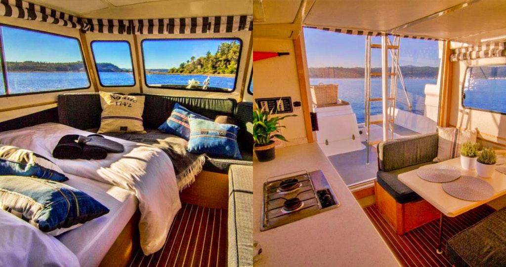 Knysna Houseboats 2 thesen eiland lekkerslaap weskaap selfsorg desember vakansie strandhuis