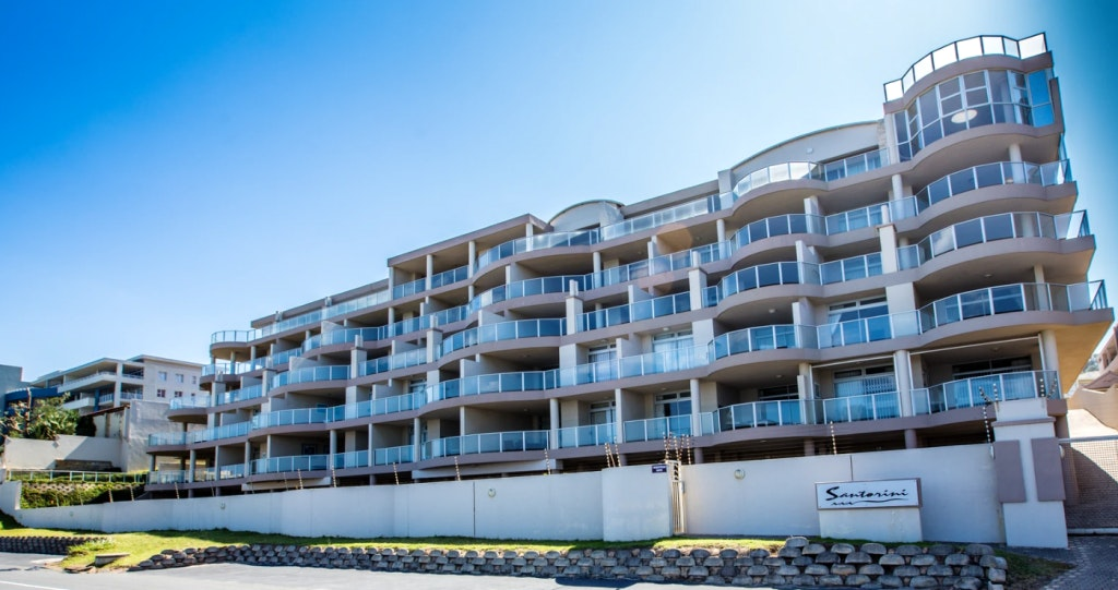 Santorini Unit N margate kzn beach december lekkerslaap selfsorg woonstel verblyf accommodation ocean sea view