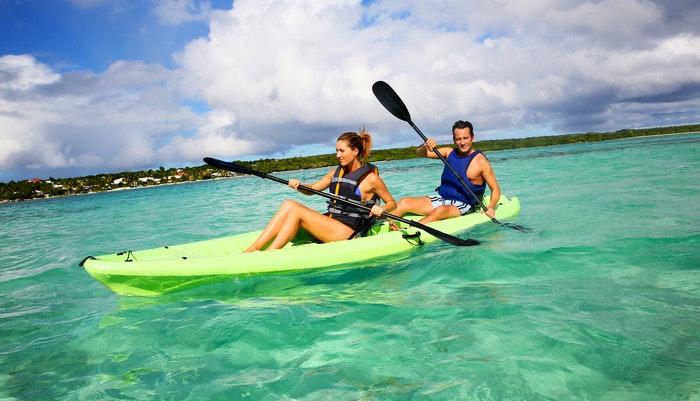 Kayaking on the lagoon