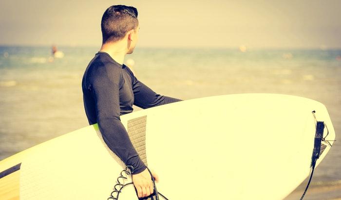 Surfing in Langebaan