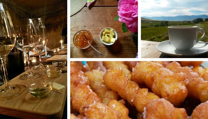 Wine from Esona, Breakfast table from Frangipani. By Roseanna McBain (C) TravelGround