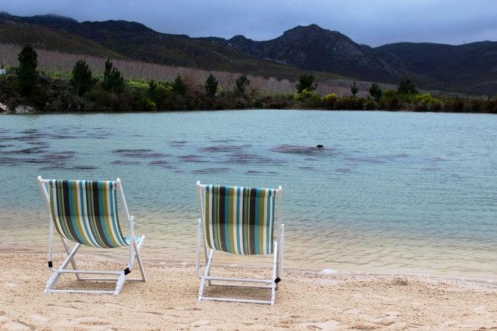 The newly built beach in Elgin Old Mac Daddy (C) Roseanna McBain