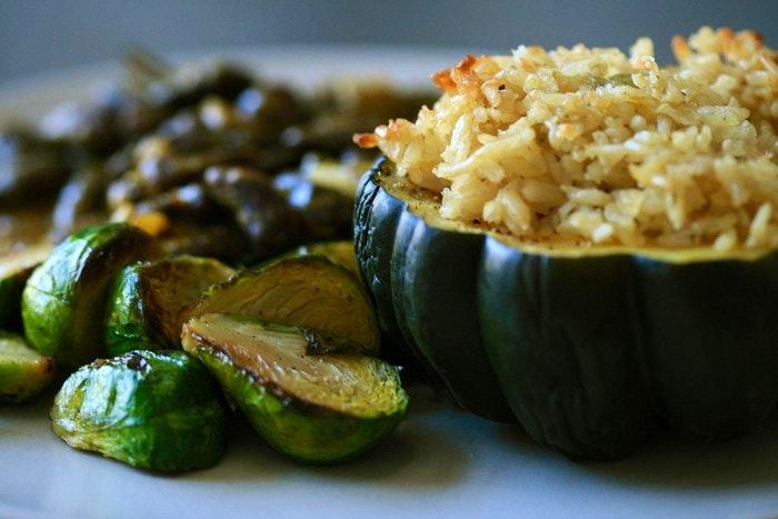 Gem squash with rice via sharynmorrow (Flickr)