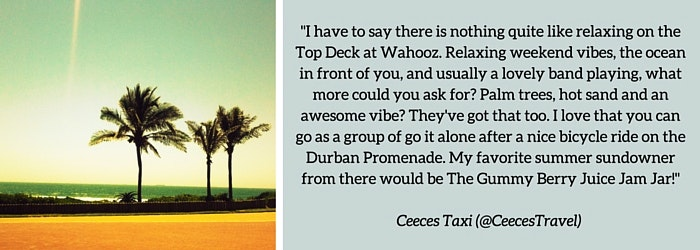 Ceeces Taxi: Summer Sundowner Spot